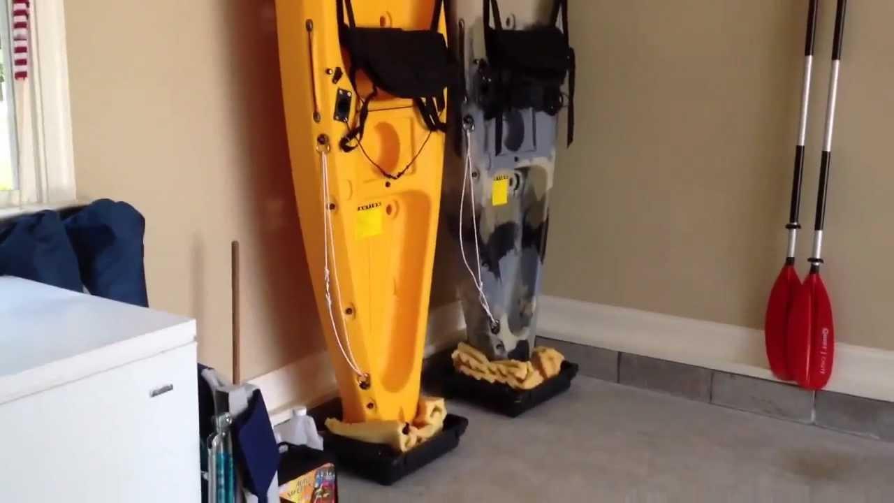 Best ideas about Vertical Kayak Storage . Save or Pin DIY Easy kayak Upright Garage Storage Now.