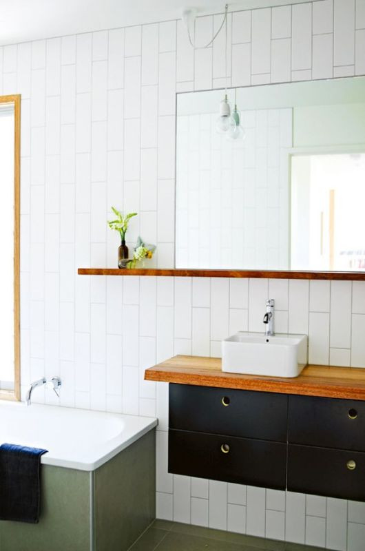 Best ideas about Vertical Subway Tile . Save or Pin 10 Inspiring Ways to use Subway Tiles in your Home Now.