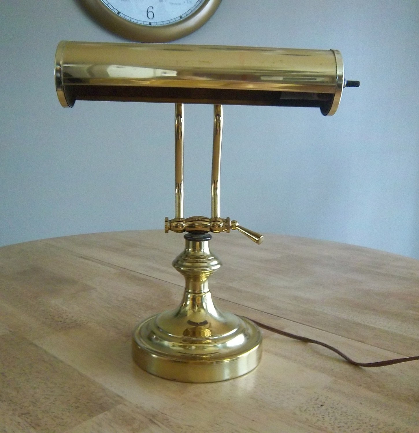 Best ideas about Vintage Desk Lamp . Save or Pin Vintage Brass Library Desk Lamp Now.
