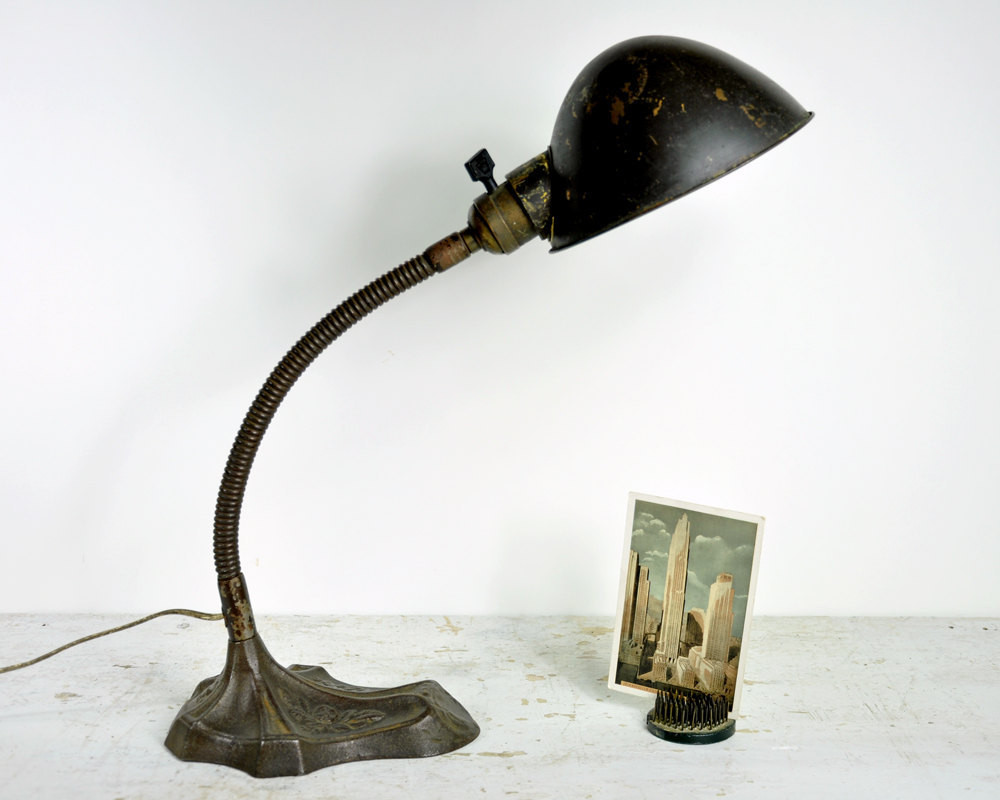 Best ideas about Vintage Desk Lamp . Save or Pin Vintage Desk Lamp Industrial Light Gooseneck Lamp Now.