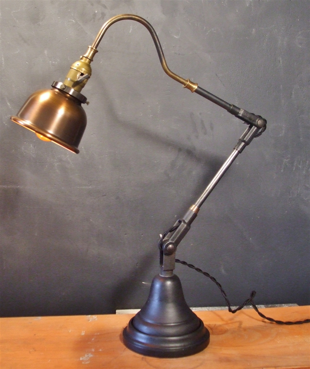Best ideas about Vintage Desk Lamp . Save or Pin Vintage Industrial Style Desk Lamp w Copper Shade on Storenvy Now.