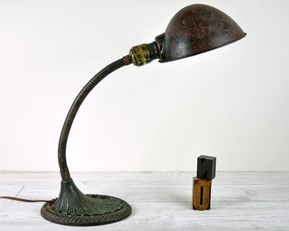 Best ideas about Vintage Desk Lamp . Save or Pin Vintage Industrial Desk Lamp Industrial Decor by Now.