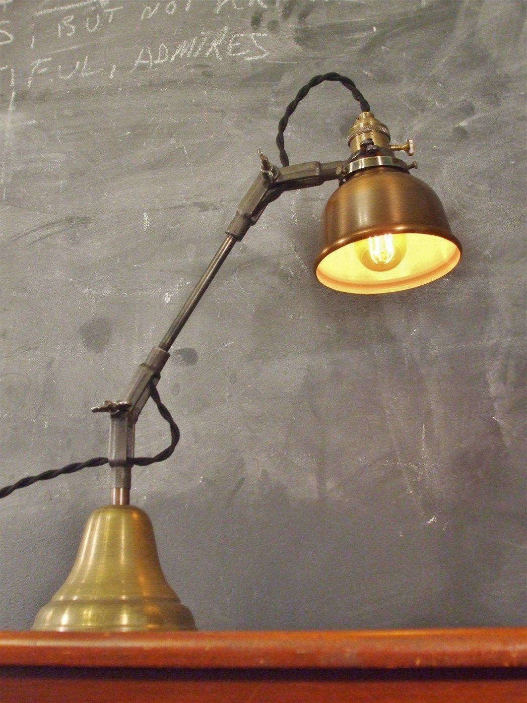 Best ideas about Vintage Desk Lamp . Save or Pin Vintage Industrial Desk Lamp Machine Age Task Light Cast Now.