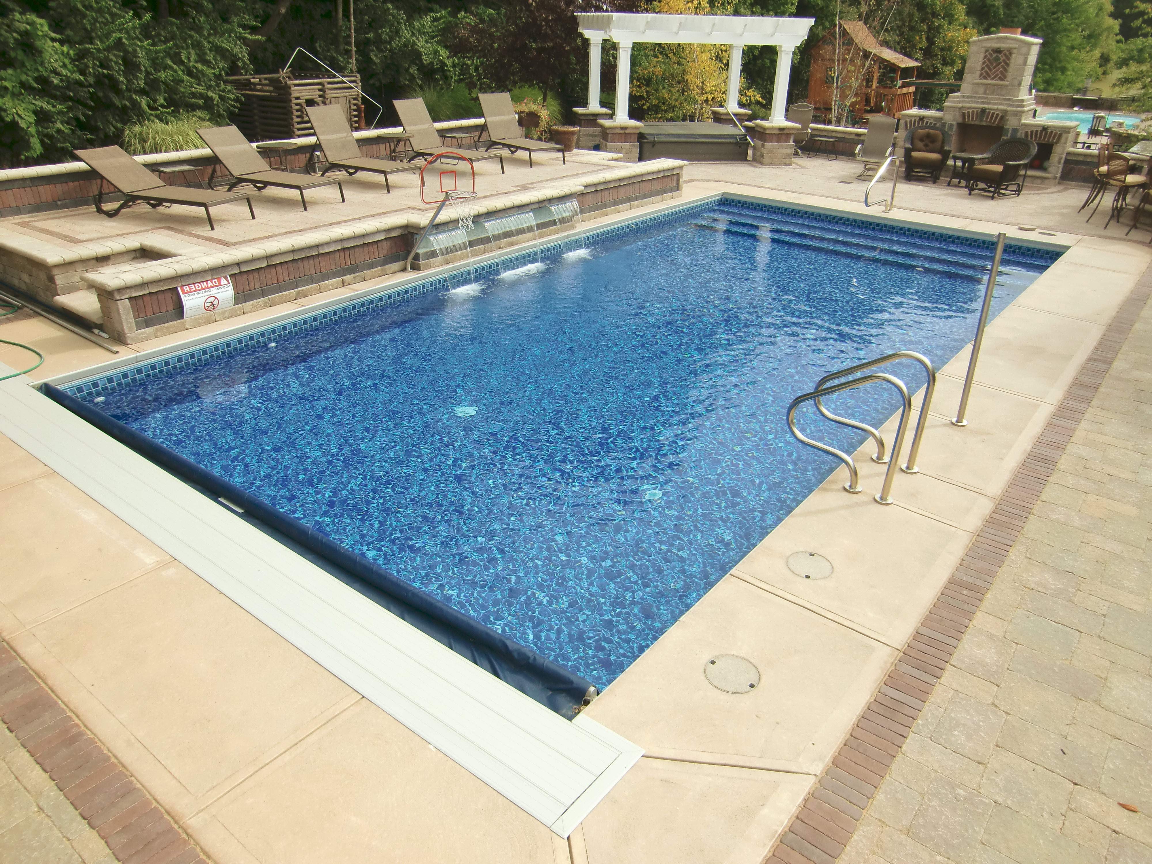 Best ideas about Vinyl Inground Pool . Save or Pin Vinyl Liner Pool Features Now.