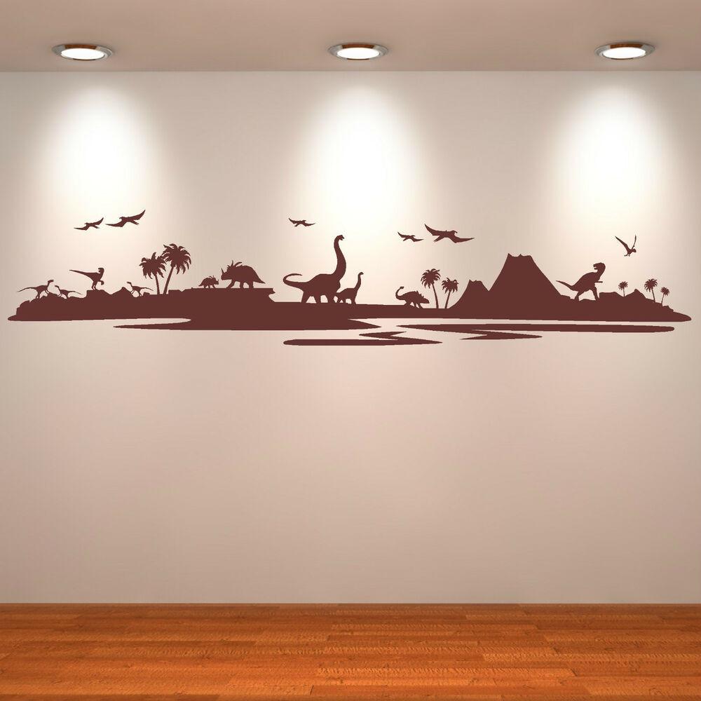 Best ideas about Vinyl Wall Art . Save or Pin DINOSAUR LANDSCAPE Assorted dinosaurs VINYL WALL ART Now.