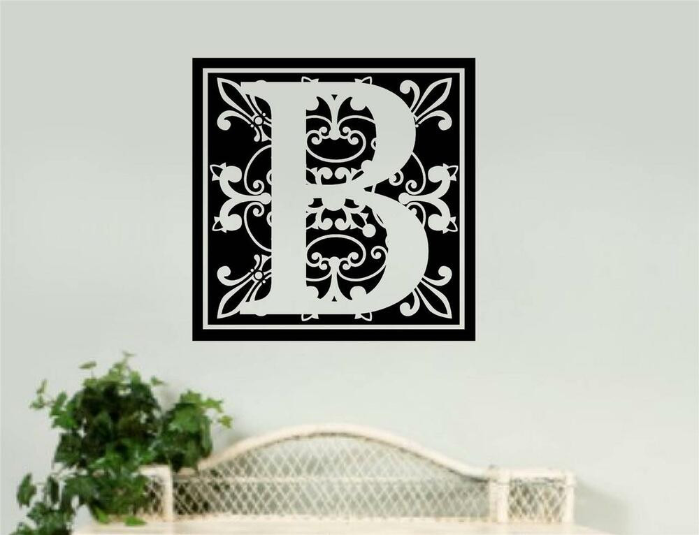 Best ideas about Vinyl Wall Art . Save or Pin Personalized Monogram Removable Vinyl Wall Art Decal Word Now.