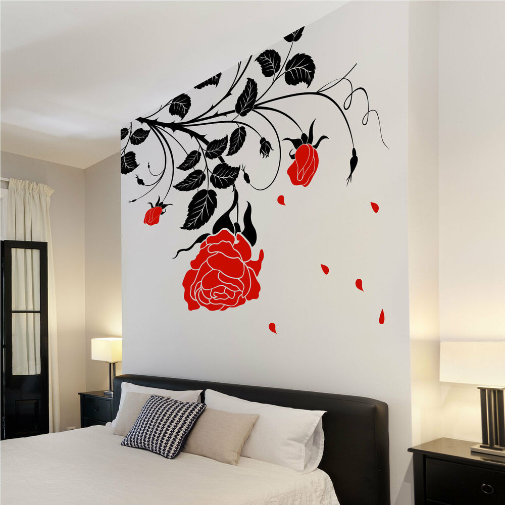 Best ideas about Vinyl Wall Art . Save or Pin Flower Roses Vines Vinyl Wall Art Stickers Wall Now.