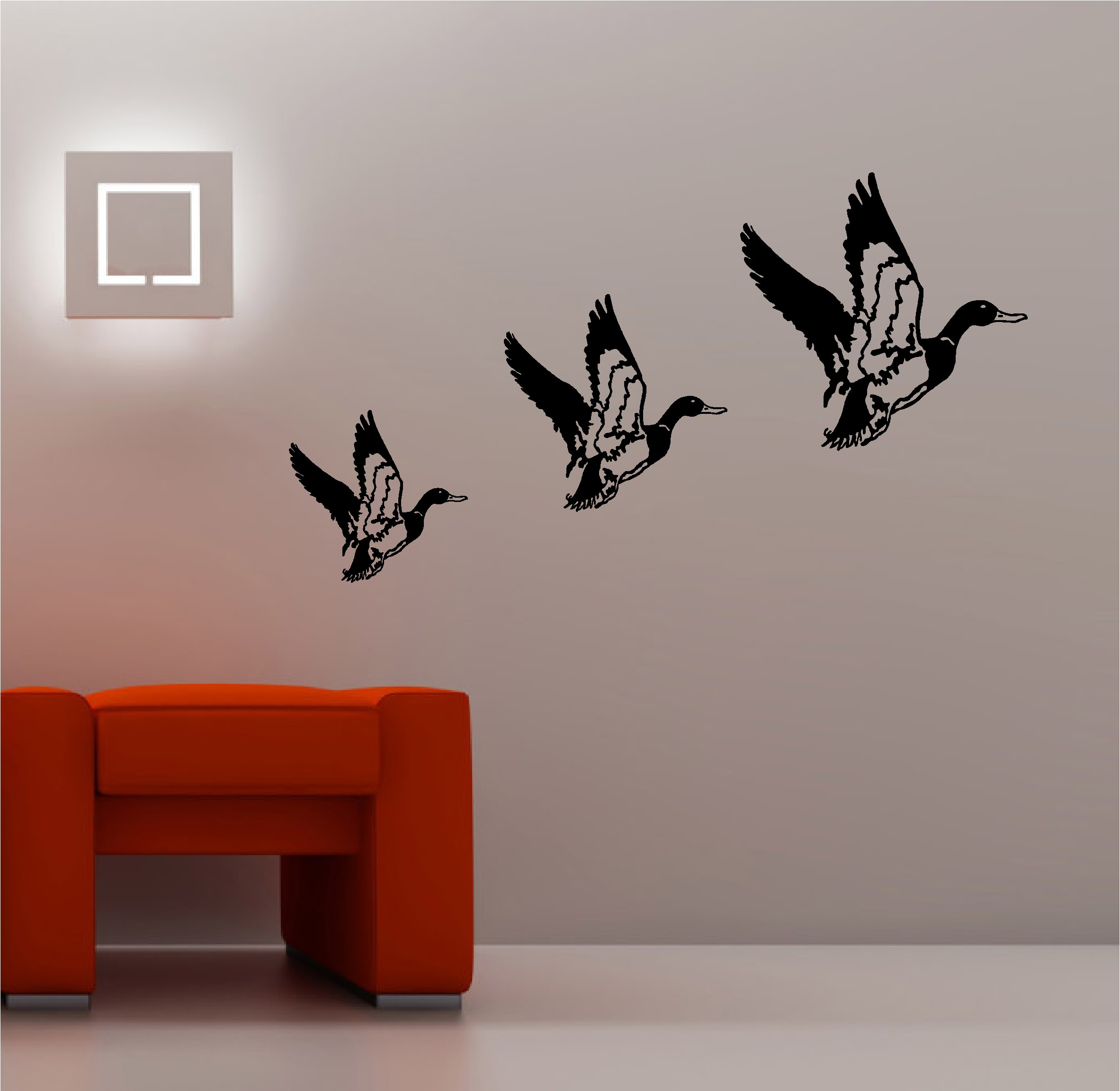 Best ideas about Vinyl Wall Art . Save or Pin 3 X RETRO FLYING DUCKS wall art sticker vinyl LOUNGE Now.