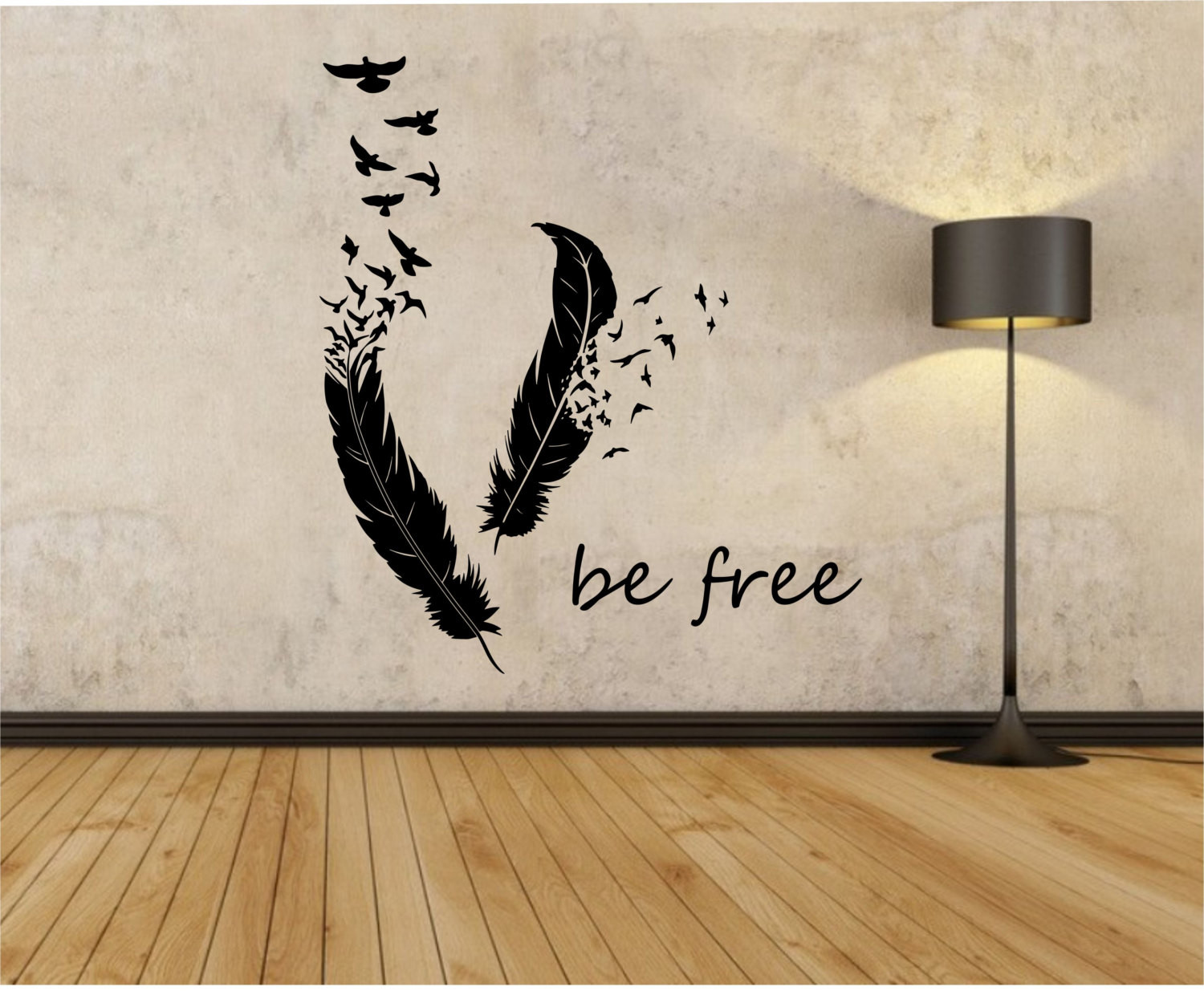 Best ideas about Vinyl Wall Art . Save or Pin Feathers Turning Into Birds Vinyl Wall Decal Sticker Art Decor Now.