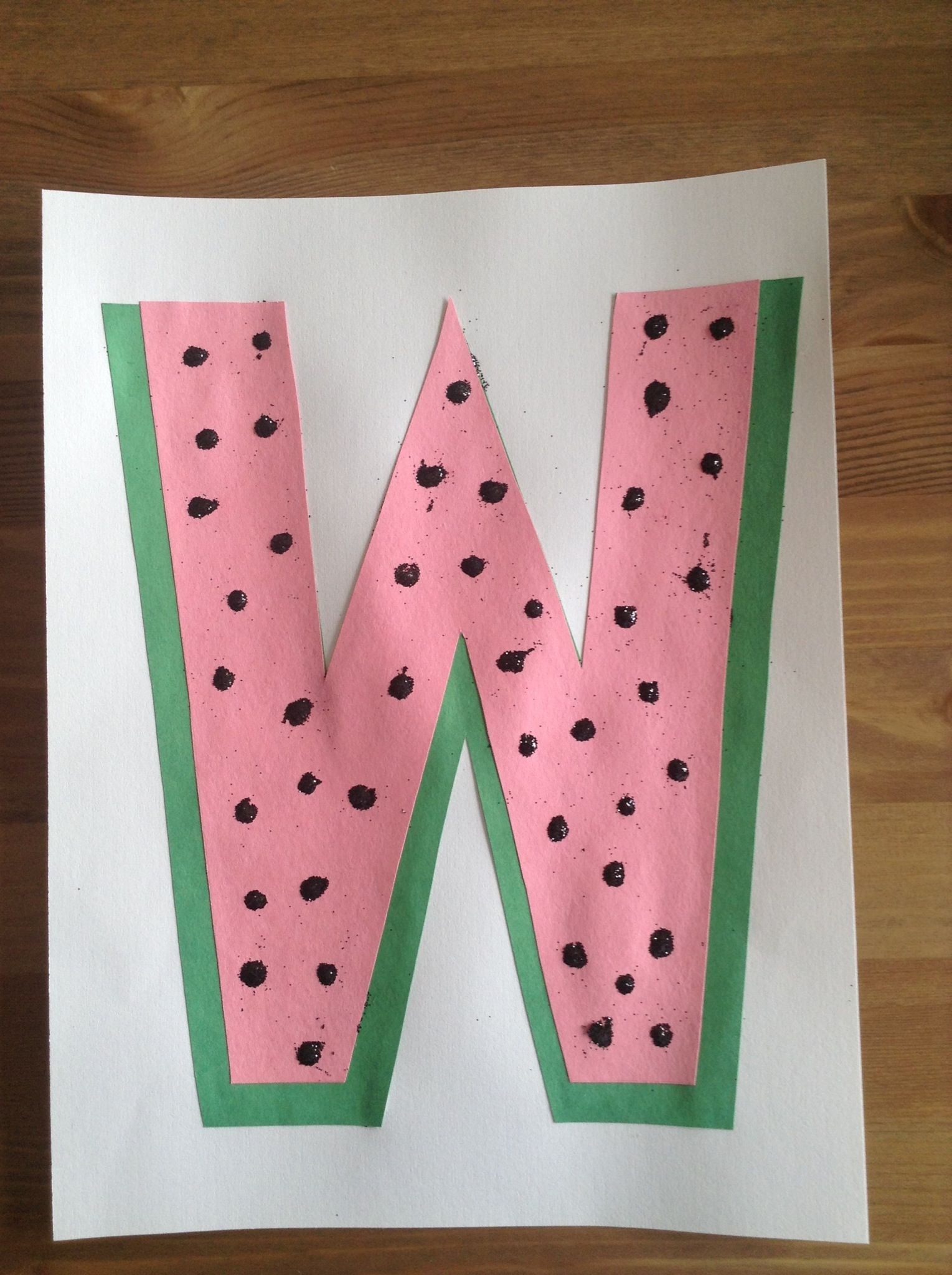 Best ideas about W Crafts For Preschoolers . Save or Pin W is for Watermelon Craft Preschool Craft Letter of Now.