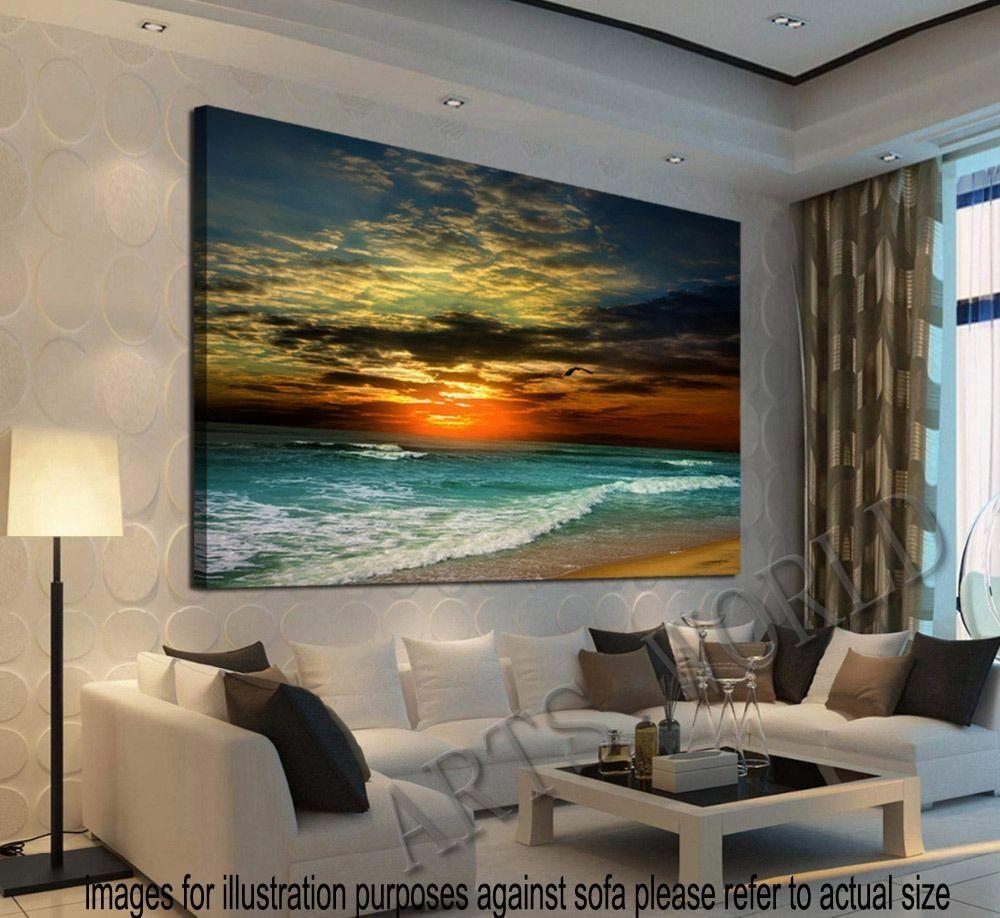 Best ideas about Wall Art Cheap . Save or Pin Unframed Home Decor Canvas Print Modern Wall Art Seascape Now.