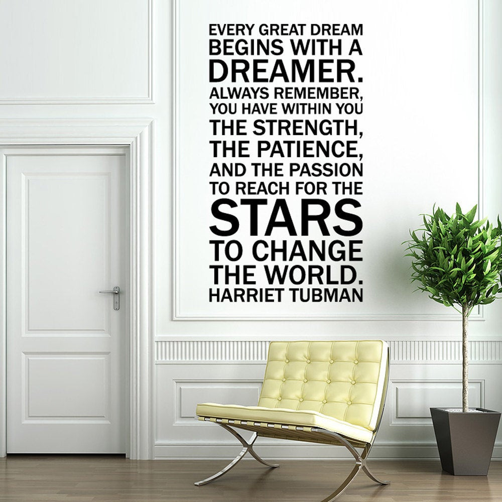 Best ideas about Wall Art Decals . Save or Pin Vinyl Wall Decal Sticker Art Quote by Harriet Tubman Every Now.