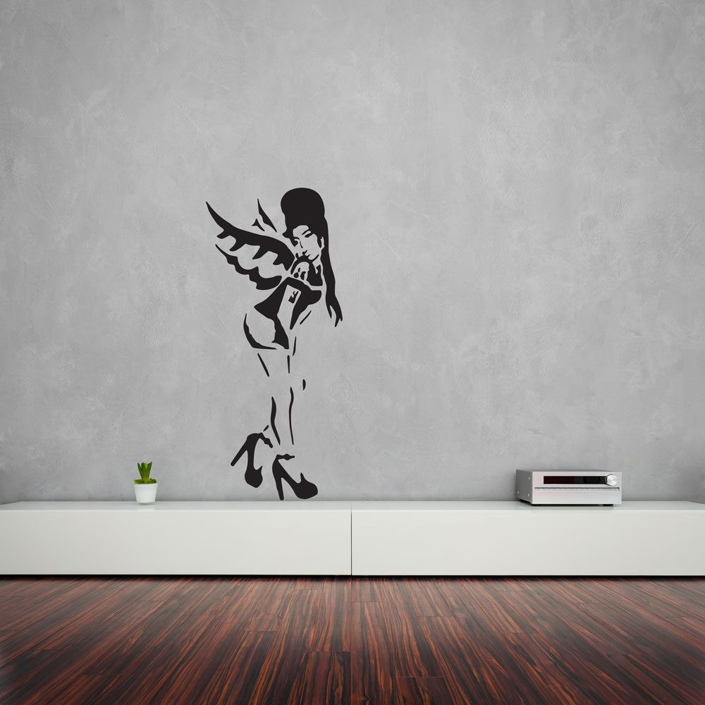 Best ideas about Wall Art Decals . Save or Pin Banksy Amy Winehouse Vinyl Wall Art Decal Now.