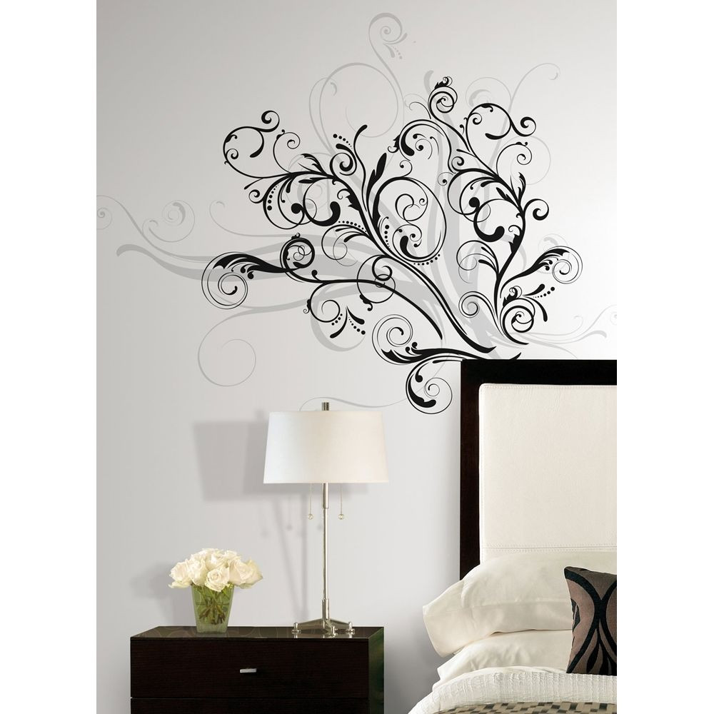 Best ideas about Wall Art Decals . Save or Pin New Modern Black & Silver SWIRLS WALL DECALS Contemporary Now.