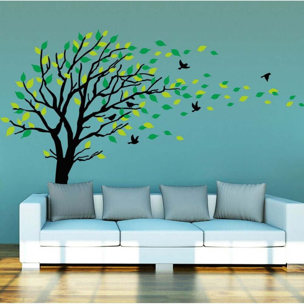 Best ideas about Wall Art Decals . Save or Pin Tree Wall Sticker with Birds Now.