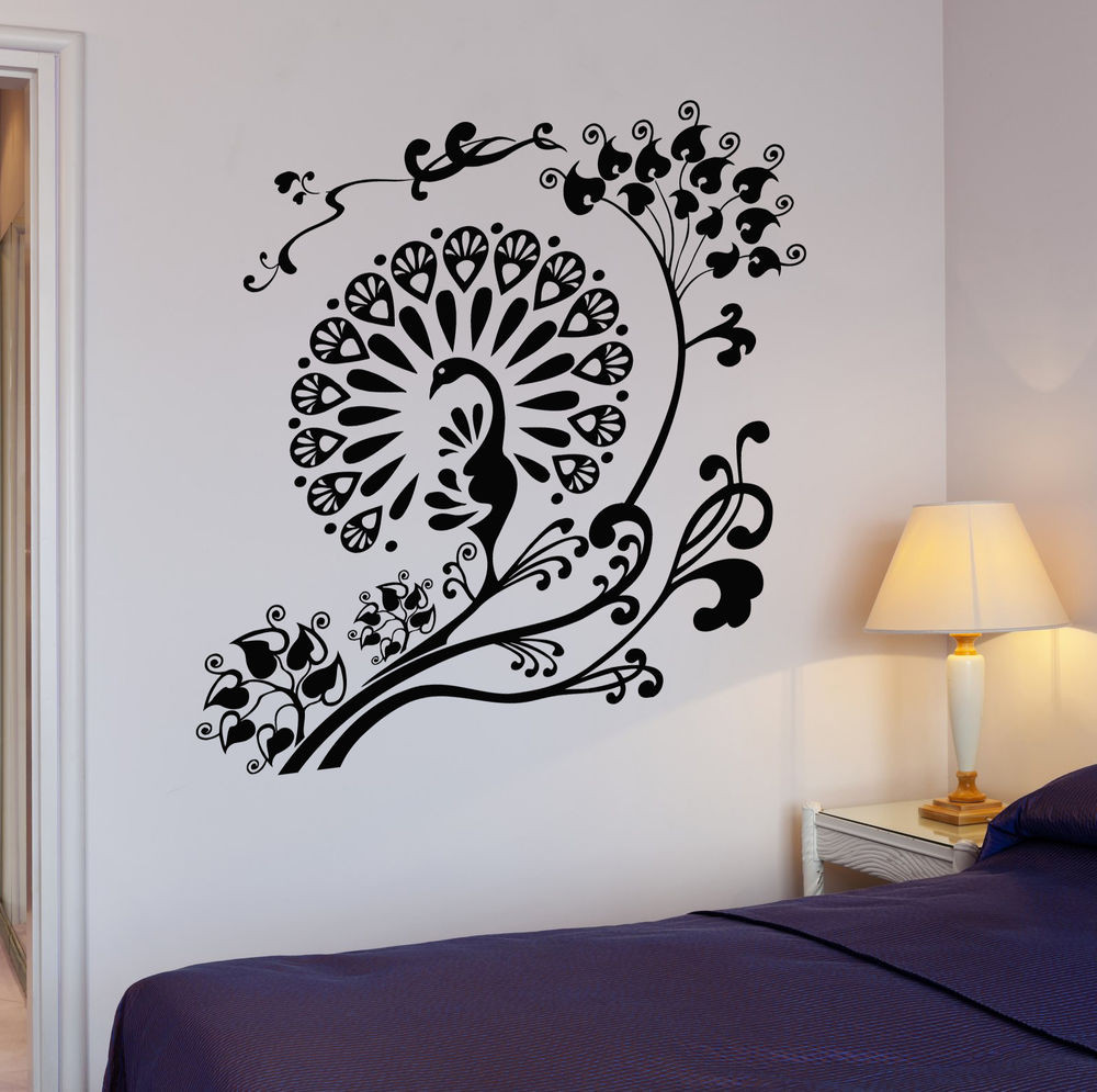 Best ideas about Wall Art Decals . Save or Pin Wall Decal Peacock Beautiful Bird Room Decor Vinyl Now.