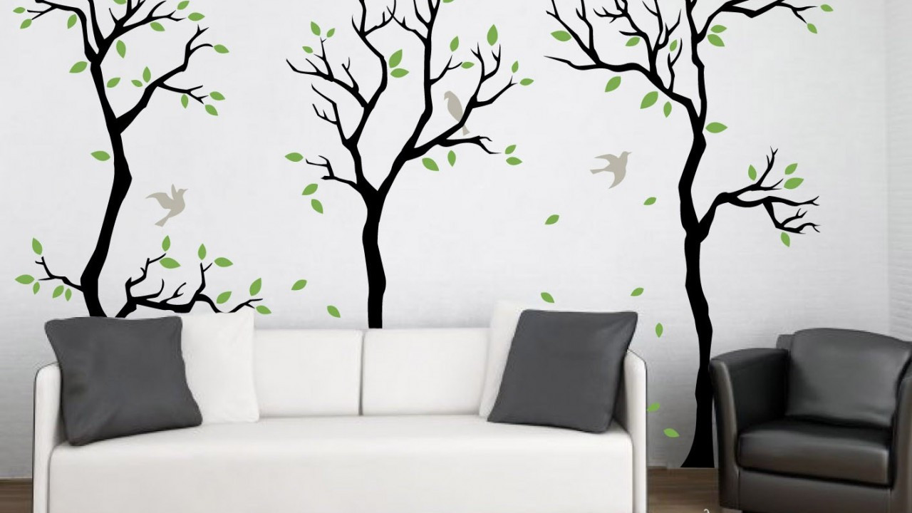 Best ideas about Wall Art Decals . Save or Pin forest wall decal wall decor removable matte vinyl wall Now.
