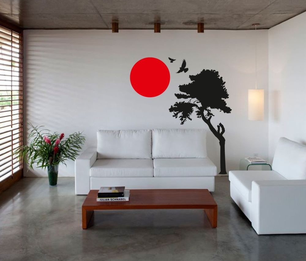 Best ideas about Wall Art Decor . Save or Pin Wall Art sticker decal vinyl japanese oriental tree sunset Now.