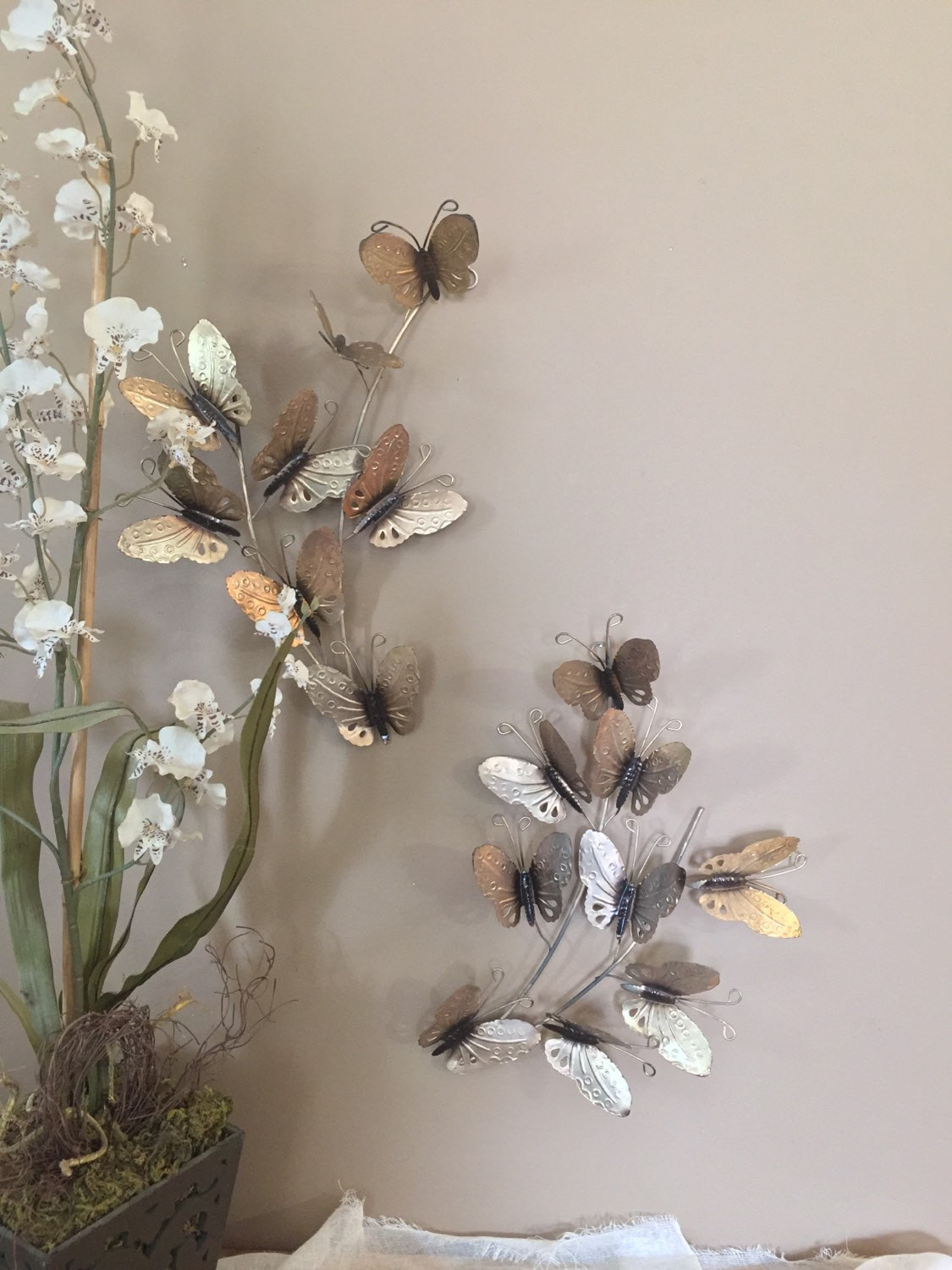 Best ideas about Wall Art Decor . Save or Pin Vintage Wall Decor Gold Butterfly Decor Wall Art Vintage Now.