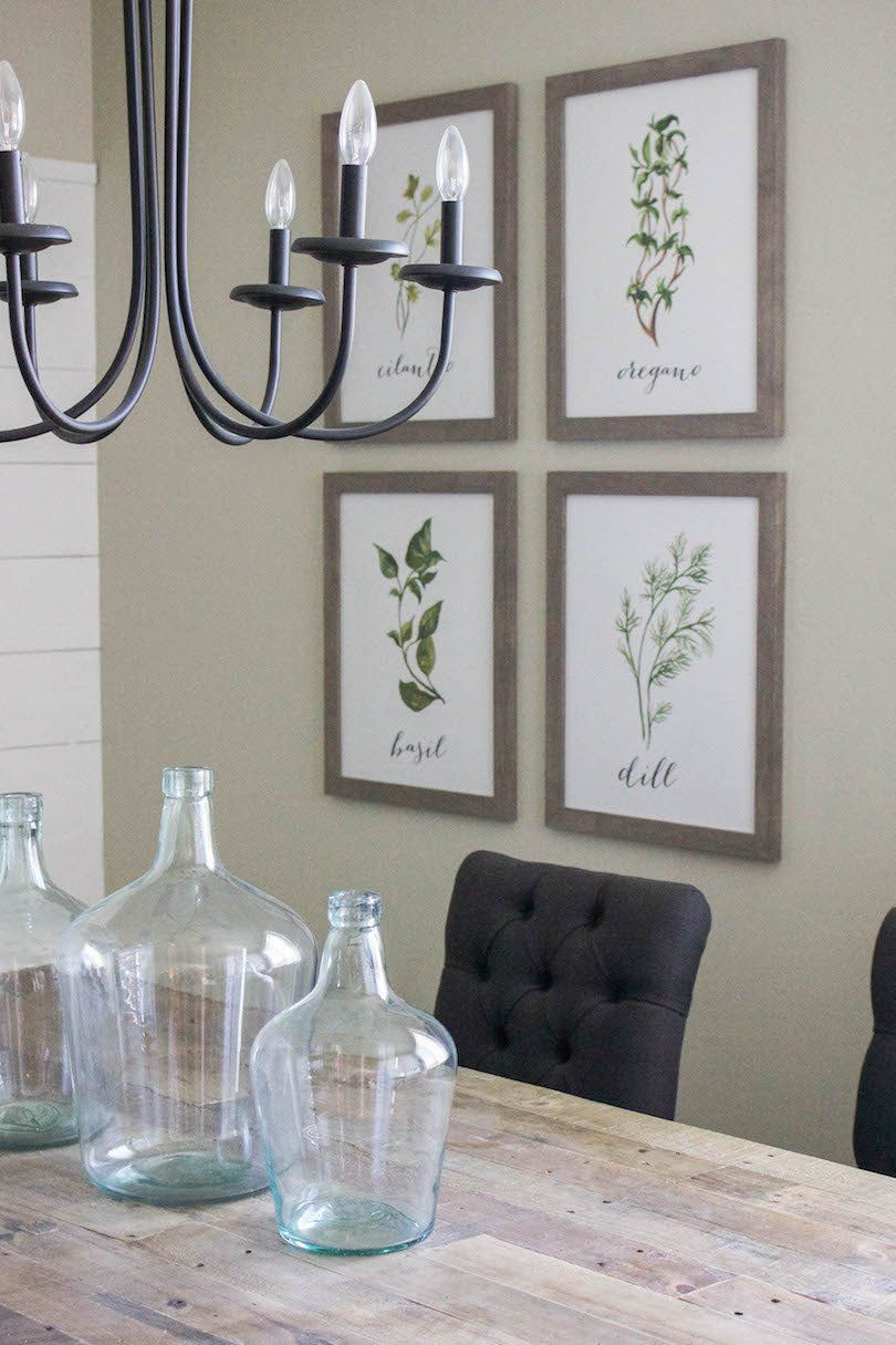 Best ideas about Wall Art Decor . Save or Pin Modern Farmhouse Dining Room & DIY Shiplap Now.