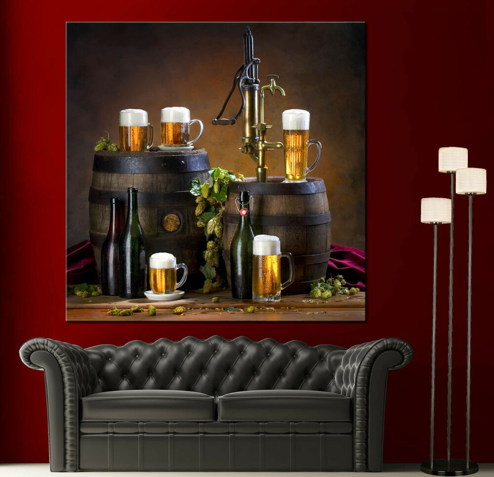 Best ideas about Wall Art Decor . Save or Pin Canvas Wall Art Print Still Life Barrels Beer Picture Now.