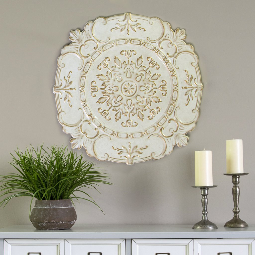 Best ideas about Wall Art Decor . Save or Pin Stratton Home Decor White European Medallion Wall Decor Now.