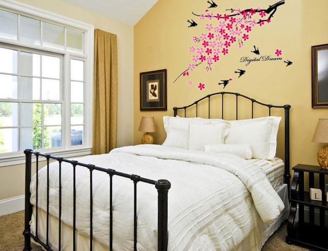 Best ideas about Wall Art For Bedroom . Save or Pin Creative Bedroom Wall Art Sticker Ideas Now.