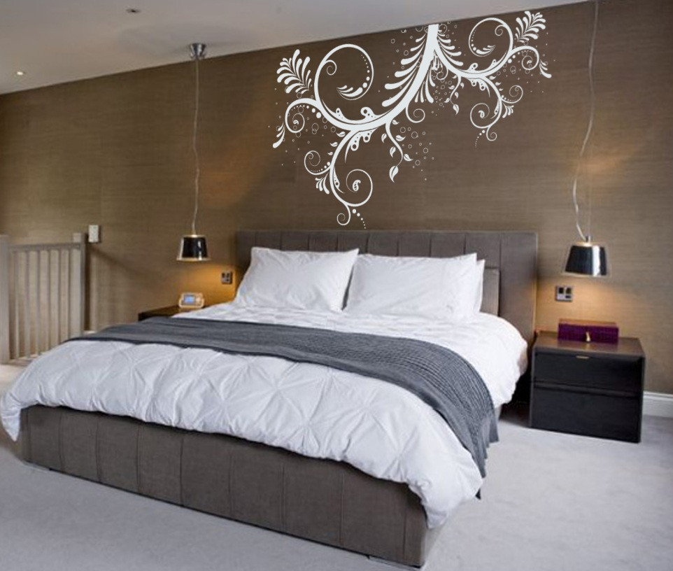 Best ideas about Wall Art For Bedroom . Save or Pin Vinyl Wall Art Decal Sticker Floral Ornaments Flower Now.