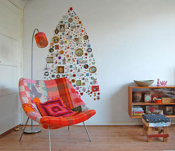 Best ideas about Wall Christmas Tree DIY . Save or Pin 22 Creative DIY Christmas Tree Ideas Now.