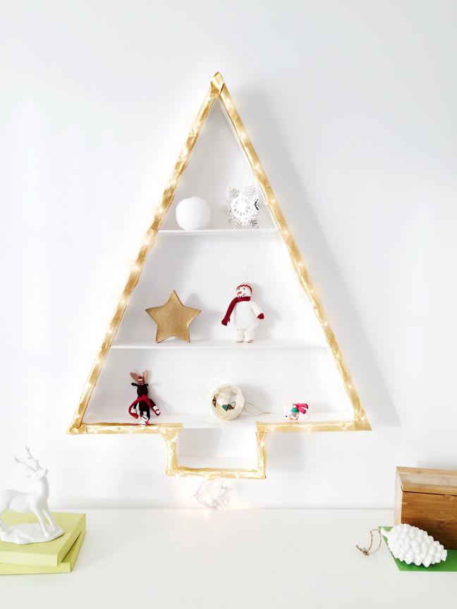 Best ideas about Wall Christmas Tree DIY . Save or Pin Christmas Tree Alternative DIY Wall Light Christmas Tree Now.
