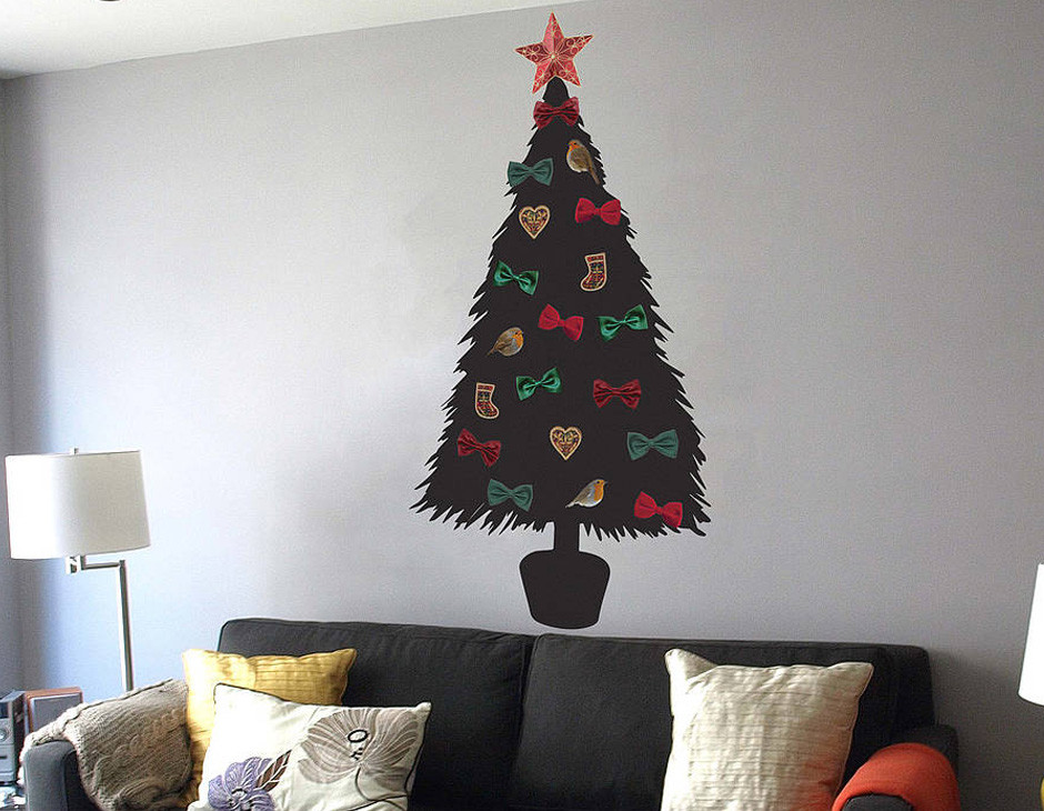 Best ideas about Wall Christmas Tree DIY . Save or Pin DIY Christmas Tree Wall Sticker Now.