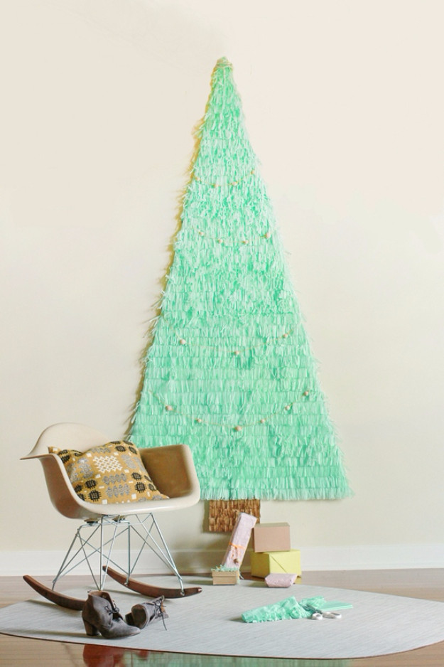 Best ideas about Wall Christmas Tree DIY . Save or Pin 36 Best DIY Ideas For A Christmas Tree DIY Joy Now.