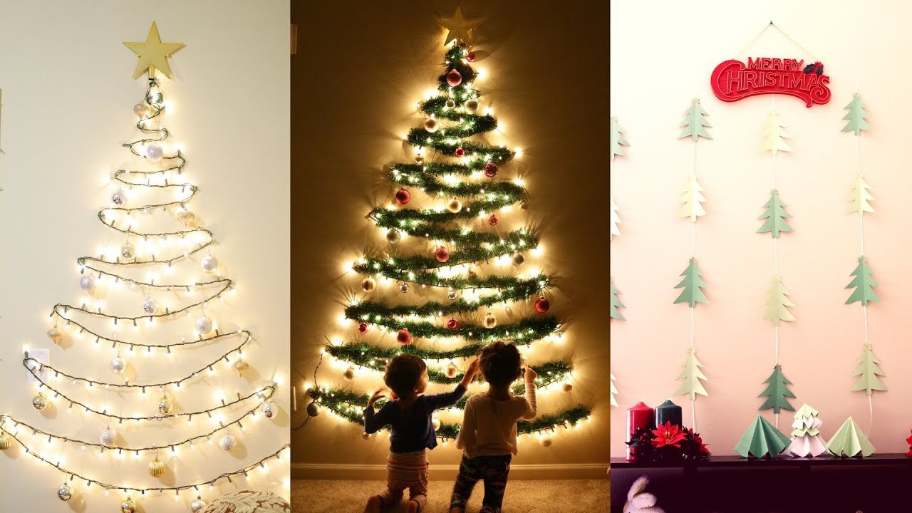 Best ideas about Wall Christmas Tree DIY . Save or Pin DIY Christmas Decor Now.
