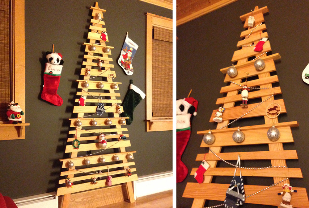 Best ideas about Wall Christmas Tree DIY . Save or Pin DIY Wall Mounted Christmas Tree Now.