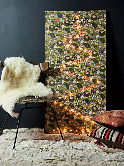 Best ideas about Wall Christmas Tree DIY . Save or Pin Holiday DIY Christmas Tree Wall Panel – Design Sponge Now.