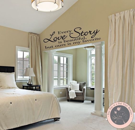 Best ideas about Wall Decals For Bedroom . Save or Pin Bedroom Decor Bedroom Wall Decal Master Bedroom Wall Now.