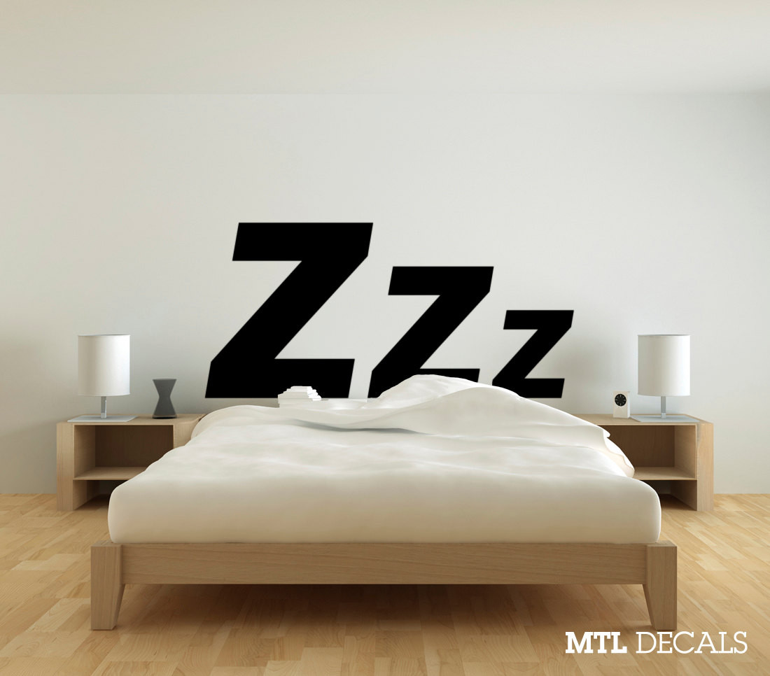 Best ideas about Wall Decals For Bedroom . Save or Pin Zzz Bedroom Wall Decal 61 x 29 Wall Sticker Wall Now.