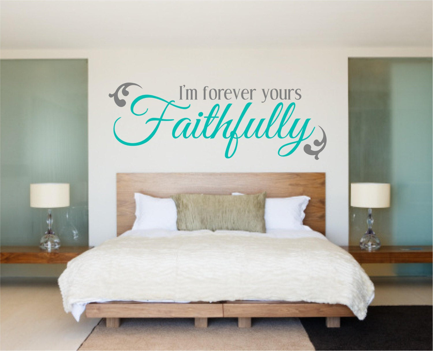 Best ideas about Wall Decals For Bedroom . Save or Pin Bedroom Decal Bedroom Wall Decal Love Decal I m Forever Now.