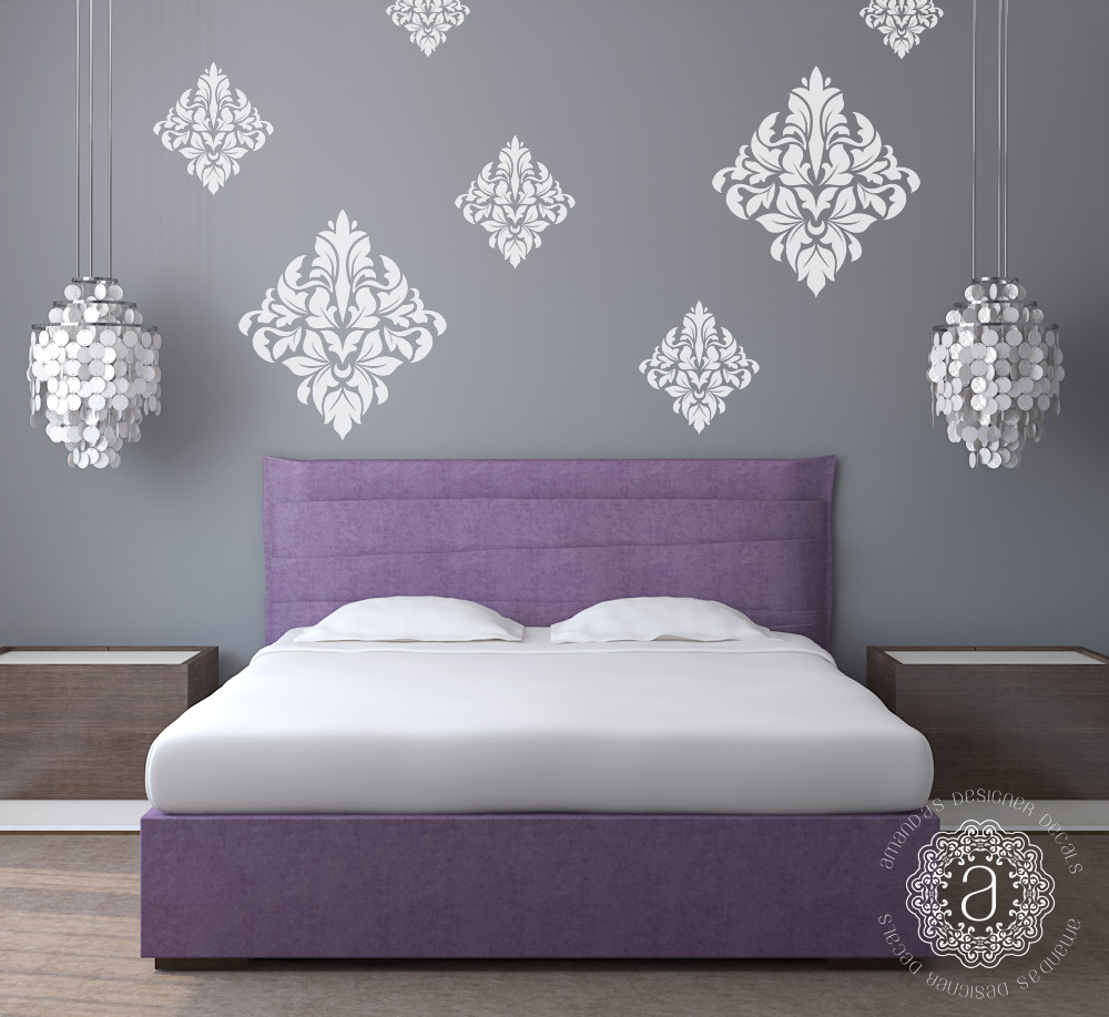 Best ideas about Wall Decals For Bedroom . Save or Pin Damask Wall Decals Wall Decals for Bedroom Amandas Now.