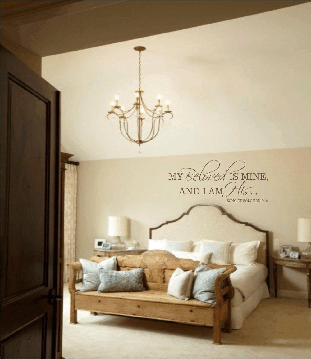 Best ideas about Wall Decals For Bedroom . Save or Pin Master Bedroom Wall Decal My Beloved is Mine and I am by Now.