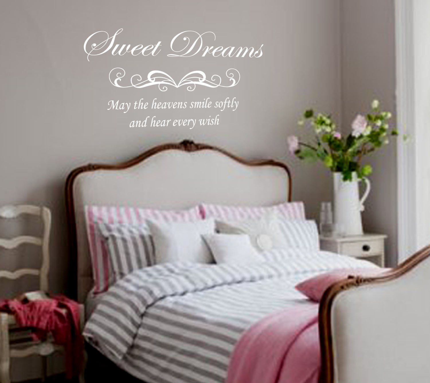 Best ideas about Wall Decals For Bedroom . Save or Pin Bedroom Wall Decal Sweet dreams Removable Vinyl Lettering Now.