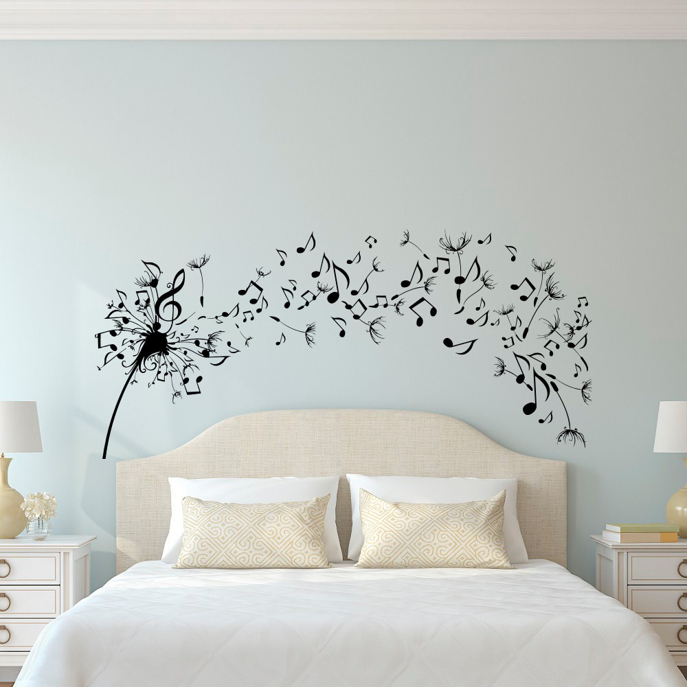 Best ideas about Wall Decals For Bedroom . Save or Pin Dandelion Wall Decal Bedroom Music Note Wall Decal Dandelion Now.