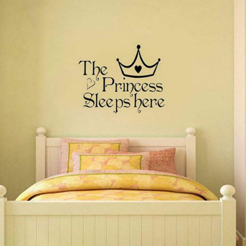 Best ideas about Wall Decals For Bedroom . Save or Pin GREAT Princess Removable Wall Sticker Girls Bedroom Decor Now.