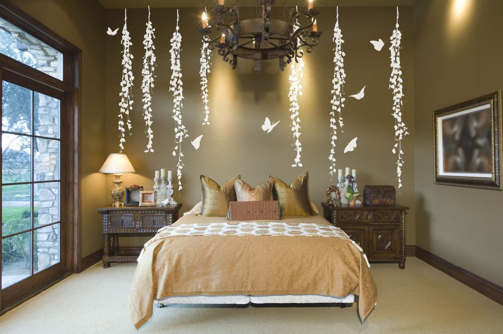 Best ideas about Wall Decals For Bedroom . Save or Pin Hanging Vines Decorative Wall Decals Removable Amandas Now.