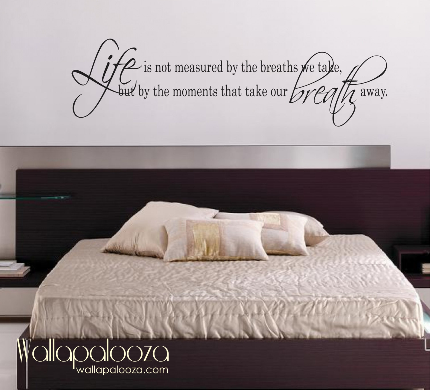 Best ideas about Wall Decals For Bedroom . Save or Pin Life Is Not measured wall decal love wall decal bedroom Now.