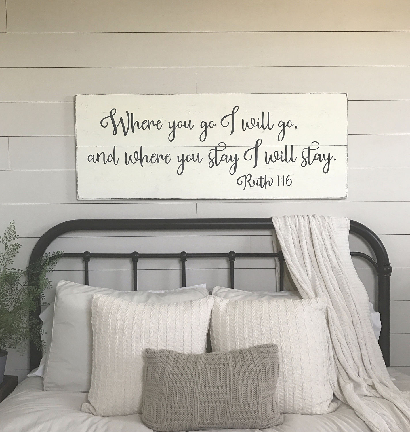 Best ideas about Wall Decor For Bedroom . Save or Pin Bedroom wall decor Where you go I will go wood signs Now.