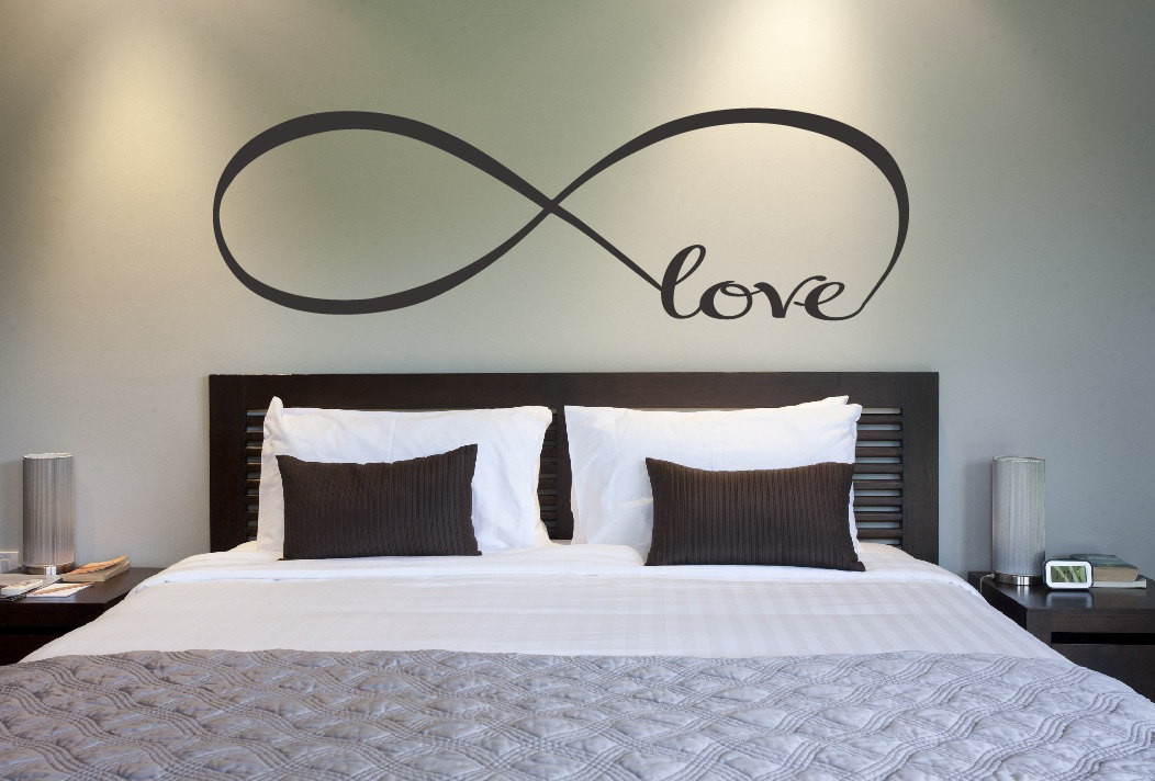 Best ideas about Wall Decor For Bedroom . Save or Pin Love Infinity Symbol Bedroom Wall Decal Love Decor Love Now.