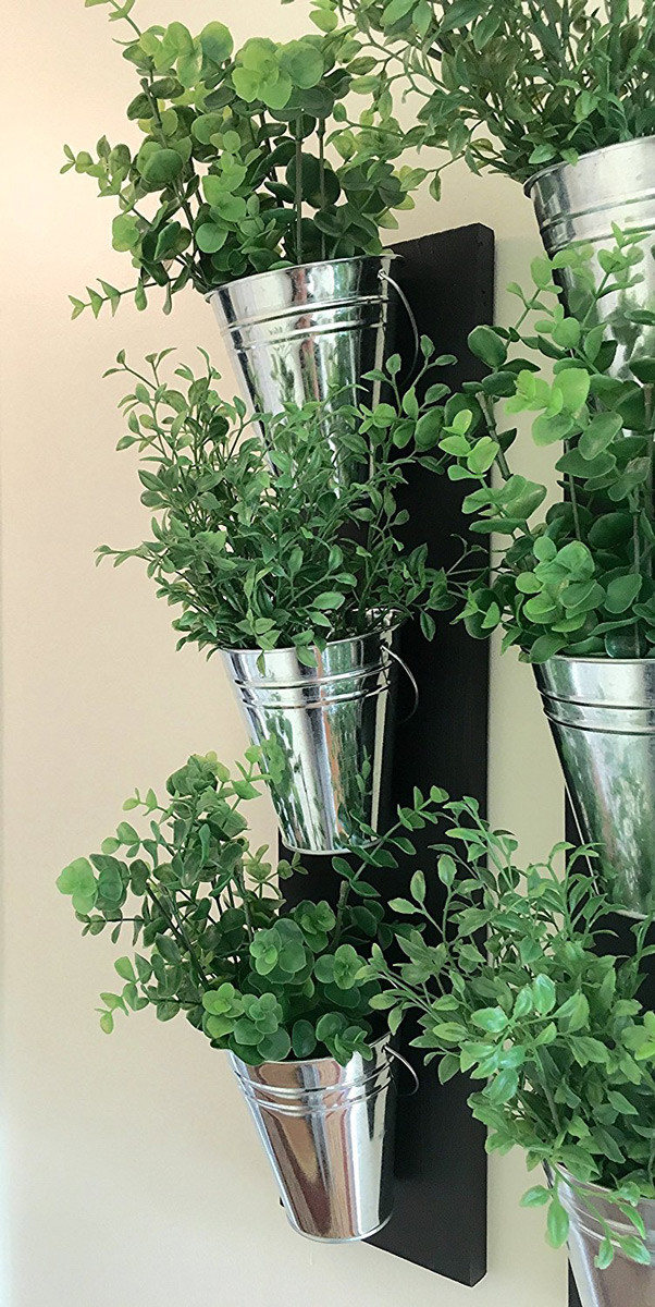 Best ideas about Wall Planters Indoor . Save or Pin Vertical Indoor Wall Planter With Galvanized Steel Pots Now.
