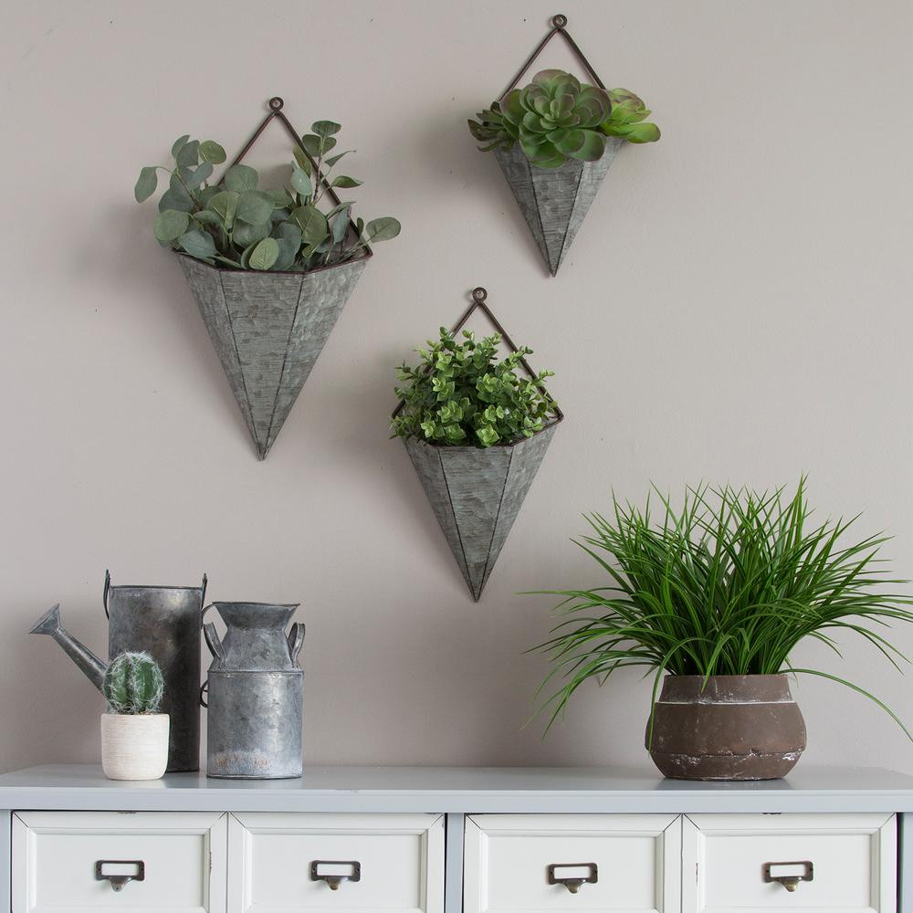 Best ideas about Wall Planters Indoor . Save or Pin Stratton Home Decor 3 Piece Triangular Galvanized Metal Now.
