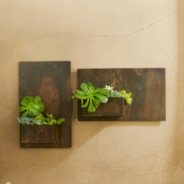 Best ideas about Wall Planters Indoor . Save or Pin Metal Planter Wall Art Contemporary Indoor Pots And Now.